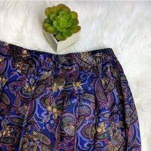 Koret Vintage Paisley Print Pleated Skirt 18